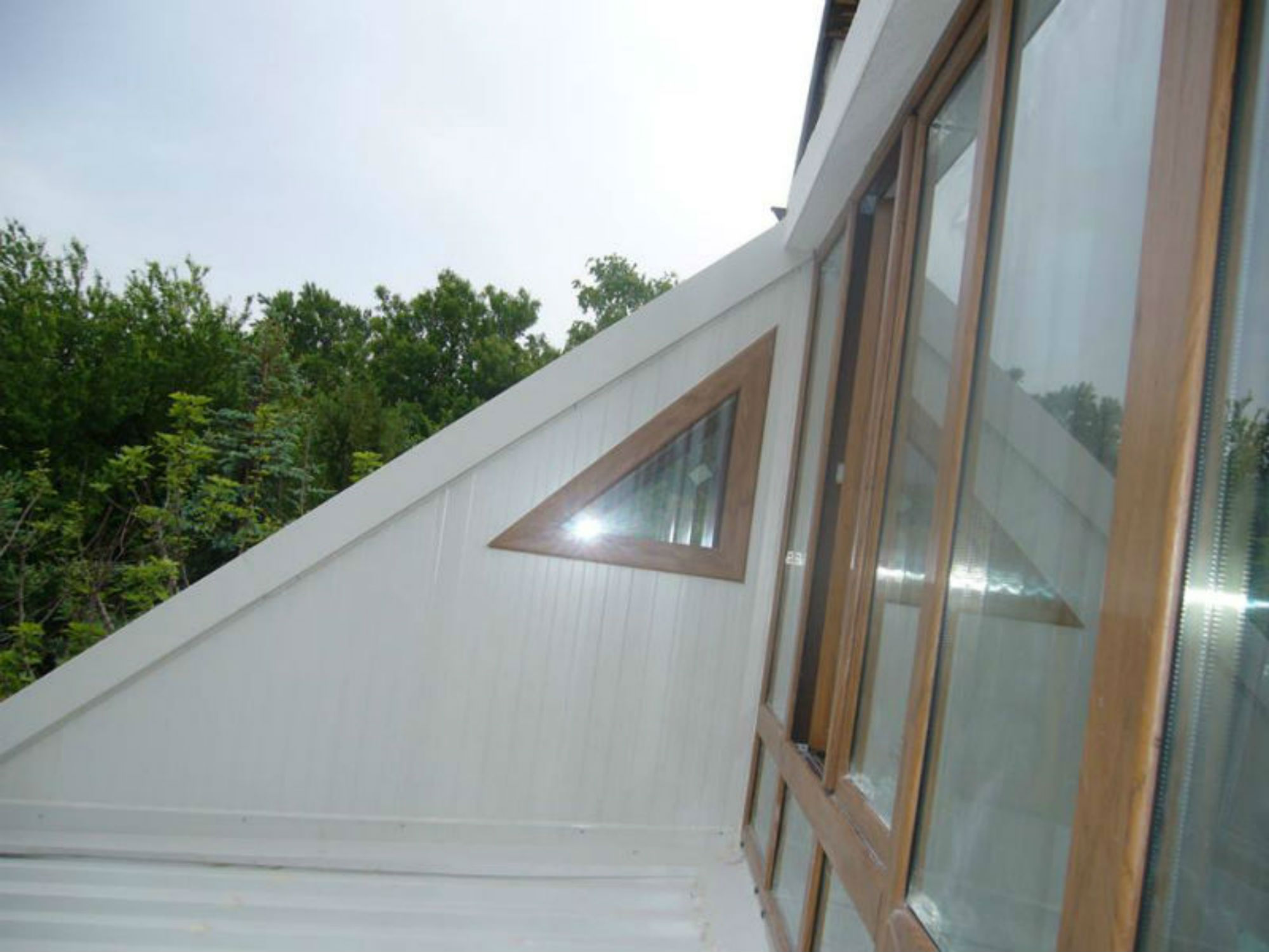 PVC windows - triangular shape