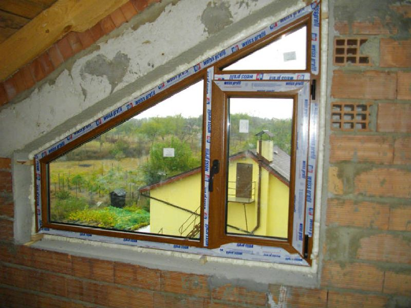 PVC window - triangular shape