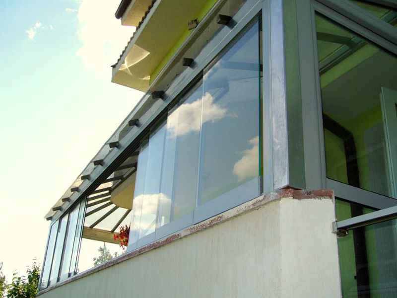 Folding glass system - 10 elements - 10mm glass